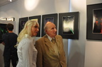 vernissage de l'expo avec Mr le Maire de Tourrette Levens